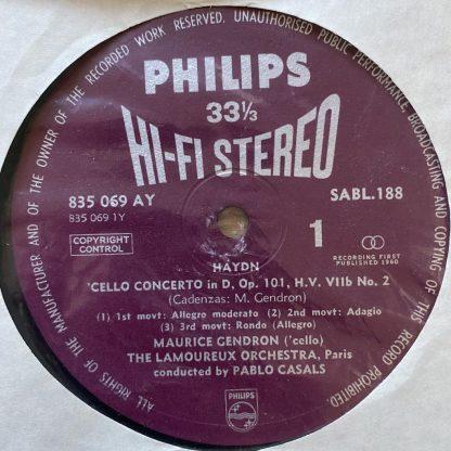 SABL 188 Haydn / Boccherini Cello Concertos